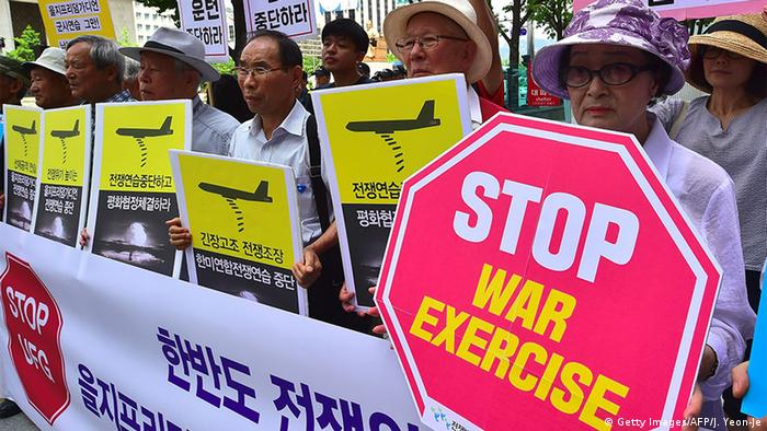 South Korea anti-war games protest