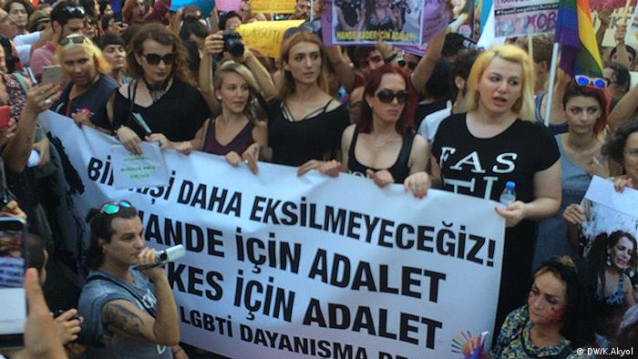 LGBT Demonstration in Istanbul Türkei