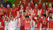 Rio 2016 Olympia Volleyball Damen China Jubel