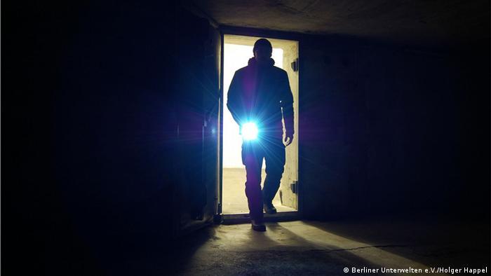 Во время экскурсии в одном из берлинских бункеров