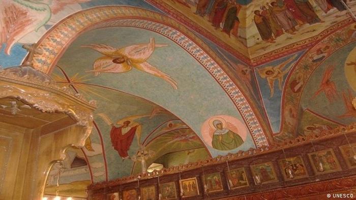 Deckenfresko des Klosters Mar Elian (Foto: Unesco)