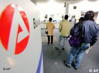 Безработные во франкфуртском отделении Федерального агентства по труду