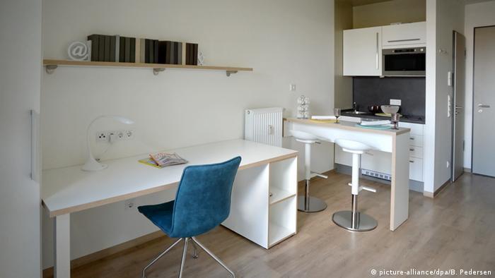 Berlin'de öğrenciler tasarlanan bir odalı ev