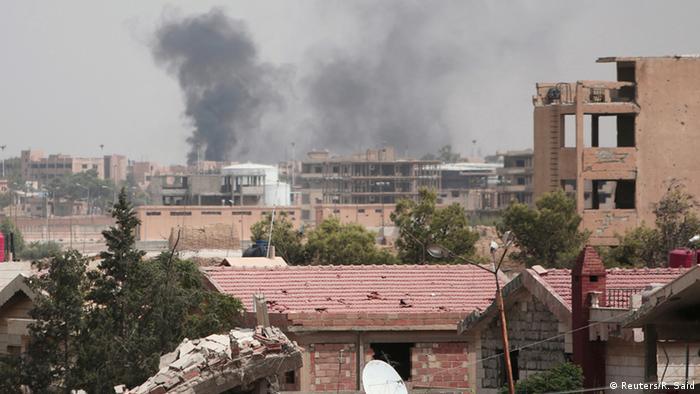 Syrien Hasaka Kämpfe Rauch