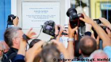 Memorial plaque at Bowie's former home in Berlin