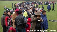 Deutschland Flüchtlinge bei Wegscheid