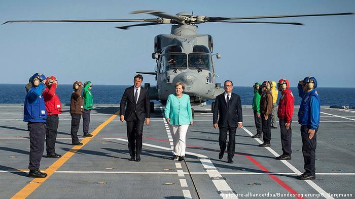 Italien Dreiergipfel zwischen Merkel, Holland und Renzi