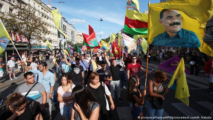 Österreich Protest kurdischer Organisationen in Wien