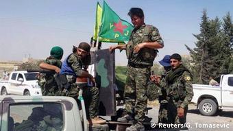 Курдські бійці поблизу Ракки