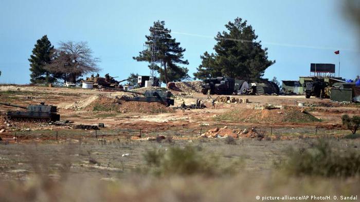 Türkey Soldaten in de Nähe von Kili