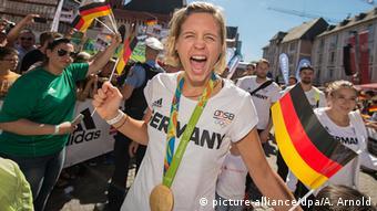 Пляжная волейболистка, победительница Олимпиады в Рио-де-Жанейро 2016 года Лаура Людвиг