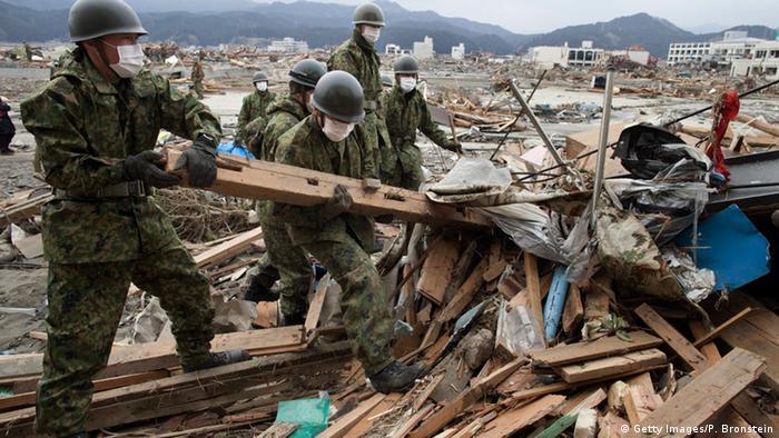 Japan Nachwirkungen nach Tsunami von 2011 (Getty Images/P. Bronstein)