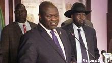 Südsudan Rebellenführer Riek Machar in Juba