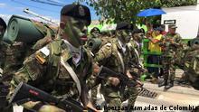 Kolumbien zwischen Krieg und Frieden Soldaten