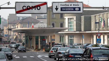 Die Grenze zwischen der Schweiz und Italien bei Como und Chiasso steht im Mittelpunkt der Kontrollen © picture-alliance/Ropi/Malosio/Fotogramma