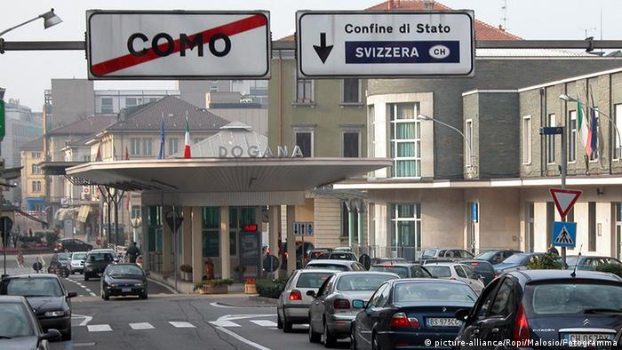 Grenze Schweiz Italien Como Chiasso