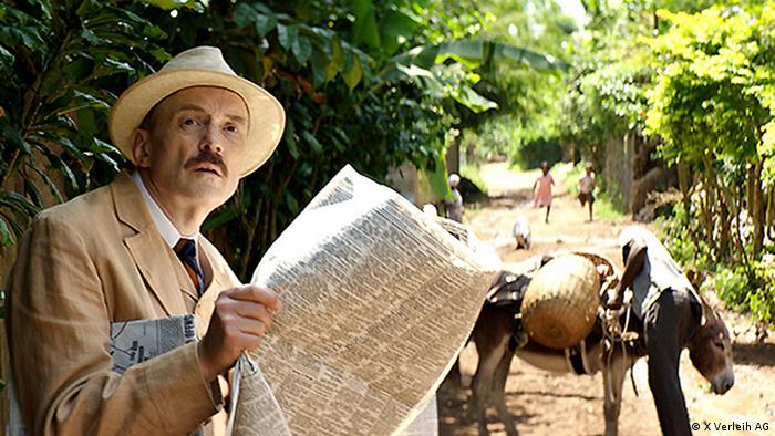 Vor der Morgenröte Filmstill with Josef Hader as Stefan Zweig, reading a newspaper (X Verleih AG)