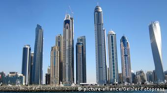 Architektur VAE Dubai Gebäude im Stadteil Marina