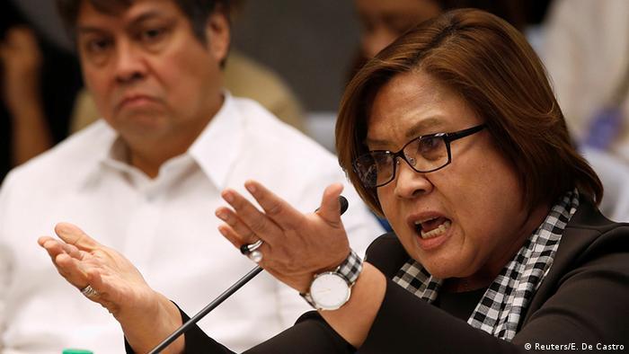 Philippinen Anhörung im Senat Leila de Lima Senatorin (Reuters/E. De Castro)