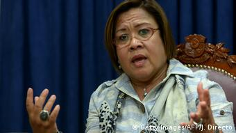 Philippinen Leila de Lima Justizministerin (Getty Images/AFP/J. Directo)