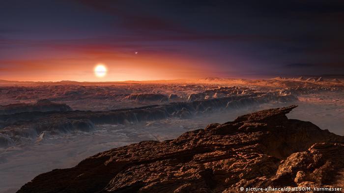 El exoplaneta Proxima Centauri b, a solo 43 años de vuelo de la Tierra.