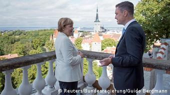 Angela Merkel meeting Taavi Rõivas in Tallinn