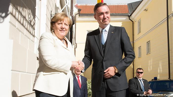 Angela Merkel and Taavi Rõivas in Tallinn