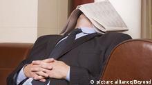 Schlafender Geschäftsmann