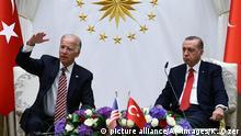 Türkei Joe Biden und Recep Tayyip Erdogan Pressekonferenz in Ankara