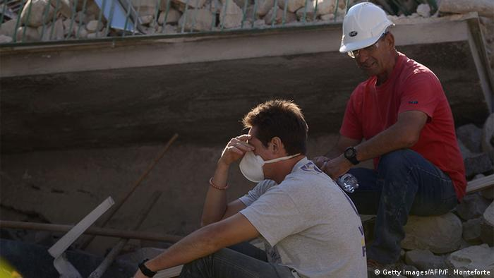 Italien Erdbeben in Amatrice Verzweiflung