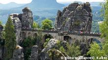 Elbsandsteingebirge Sächsische Schweiz Basteibrücke