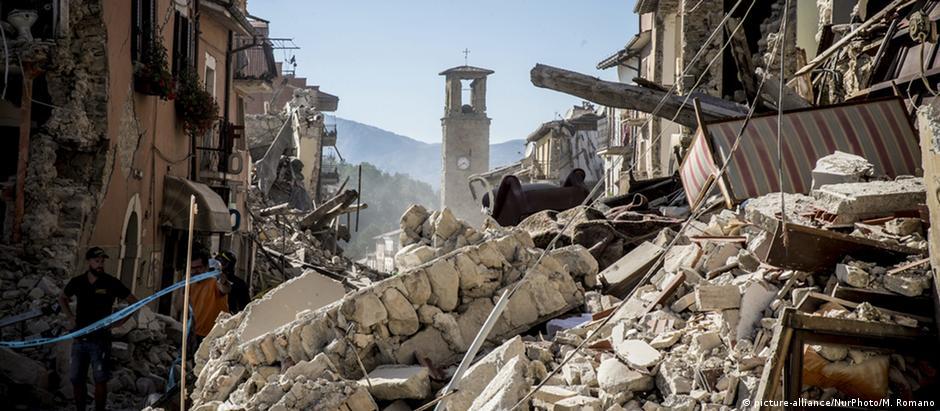 Abalo sísmico devastou diversos vilarejos na região central da Itália, como Amatrice
