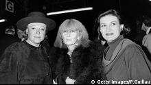 A photo taken on October 22, 1984 shows (from L to R) French singer Regine, fashion designer Sonia Rykiel and Paloma Picasso during the spring-summer 1984-85 ready-to-wear collection show in Paris. AFP PHOTO PIERRE GUILLAUD / AFP / PIERRE GUILLAUD (Photo credit should read PIERRE GUILLAUD/AFP/Getty Images)##Getty Images/P.Guillau