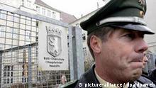 Rütli-Hauptschule in Berlin Polizeischutz