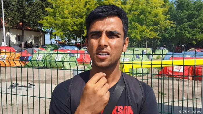 Pakistanischer Flüchtling in Serbien (Copyright: DW/M. Ilcheva)