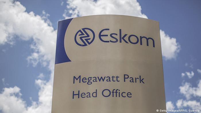 Südafrika LOGO Energiekonzern Eskom (Getty Images/AFP/G. Guercia)