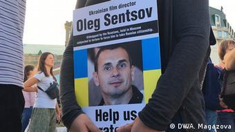 Ukraine Kiew Demonstration für Regisseur Oleg Senzow