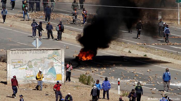Las protestas de los mineros cooperativistas bajaron su intensidad tras el crimen.