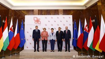 Polen Angela Merkel in Warschau