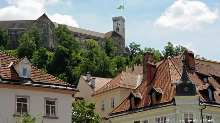 Ljubljana Slowenien Burg Berg