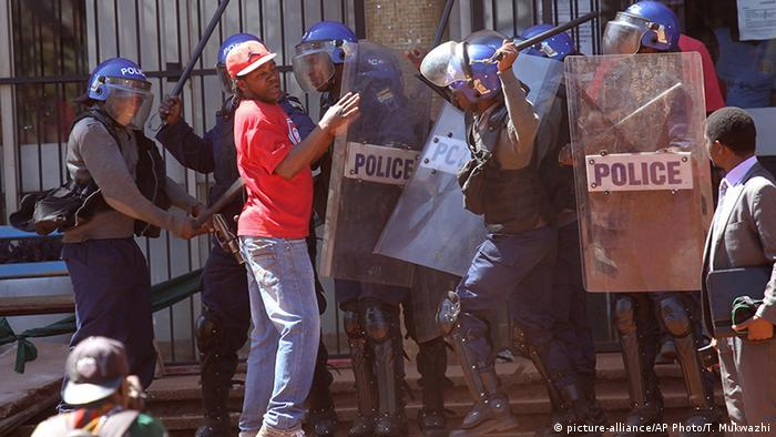 Simbabwe Proteste der Opposition in Harare