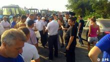 ***ACHTUNG: Verwendung nur zur mit den Rechteinhabern abgesprochenen Berichterstattung.*** 23.8.2016 *** Protest der Bauern und Träger (Rostov, Russland, 2016.08.23) Copyright: OPR