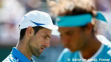 USA Indian Wells Tennis Rafael Nadal und Novak Djokovic