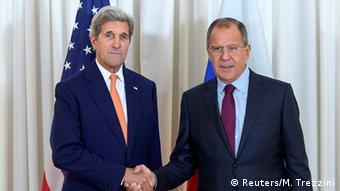 John Kerry and Sergei Lawrow
