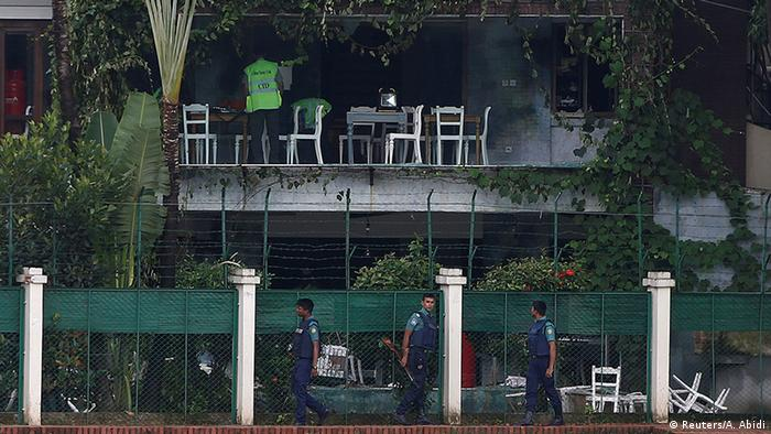Site of the cafe where the Dhaka attack took place
