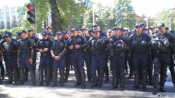 Поліцейський кордон в Кишиневі, 27 серпня 2016 року