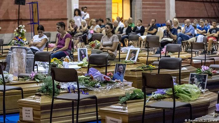 Italien Trauer Opfer des Erdbebens
