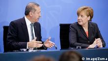 Feb. 4, 2014 - Berlin, Germany. Februar 04th, 2014. German Chancellor Angela Merkel welcomes the Turkish Prime Minister Recep Tayyip Erdogan to exchange views at the Federal Chancellery. The focus of the common conversation is the bilateral relations and current international issues, like Syria. After the meeting, they give a joint press conference at the Chancellery in Berlin. / Picture: Türkischer Ministerpräsident Recep Erdogan and Angela Merkel (CDU), German Chancellor. PUBLICATIONxINxGERxSUIxAUTxONLY - ZUMAes Imago/Zuma
