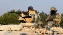 Vorstoß nach Süden: Türkischer Panzer in Karkamis nahe der syrischen Grenze