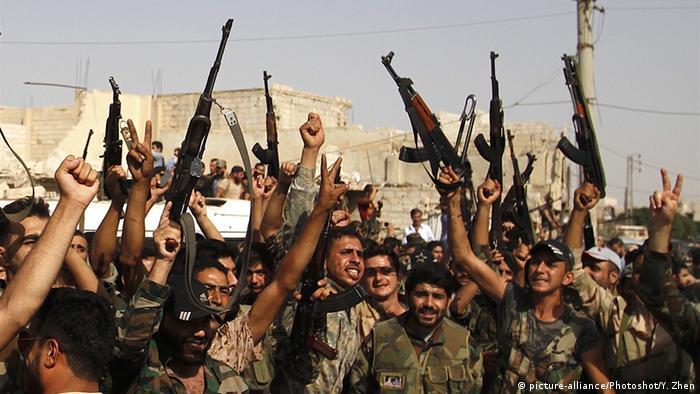 Syrien syrische Soldaten in Darayya